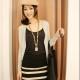 Маркет | Obaldet | PRE-ORDER *Textured All-match Stripe Zipper Embellished Slim*